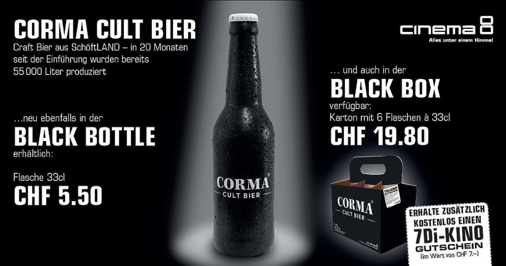 Corma Cult Bier - Black Bottle